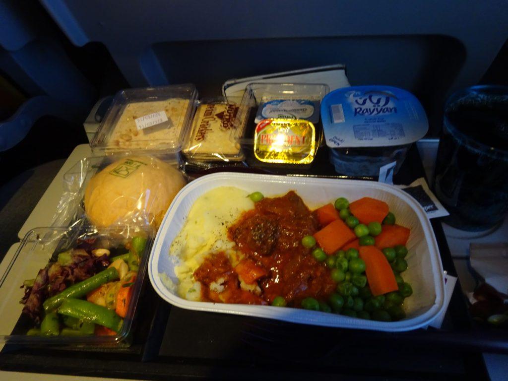 カタール航空の機内食
